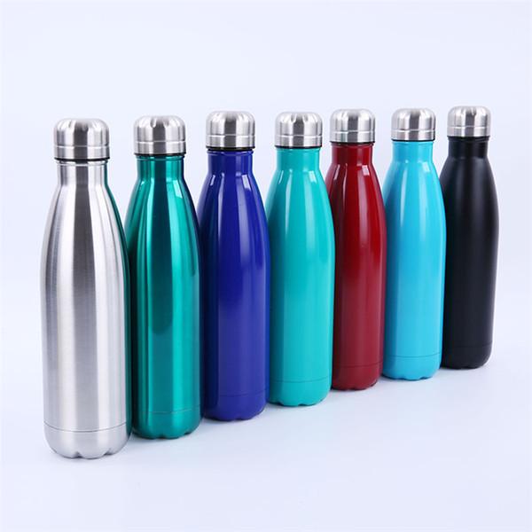 Cola Shape Vacuum Water Bottles Stainless Steel 500ml 21