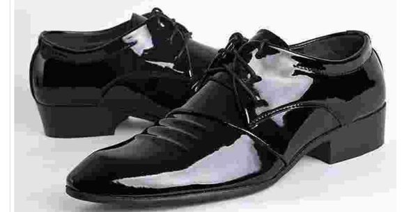 Shipping British youth men's leather shoes leather trend pointed Korean business casual dress studio