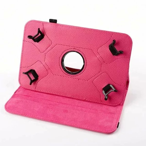 Universal For 7.0 8.0 9.0 10.0 inch PC tablet Litchi 360 Rotating Leather Wallet Case Pouch Bag Colorful Rotary Stand Skin Cover 100pcs