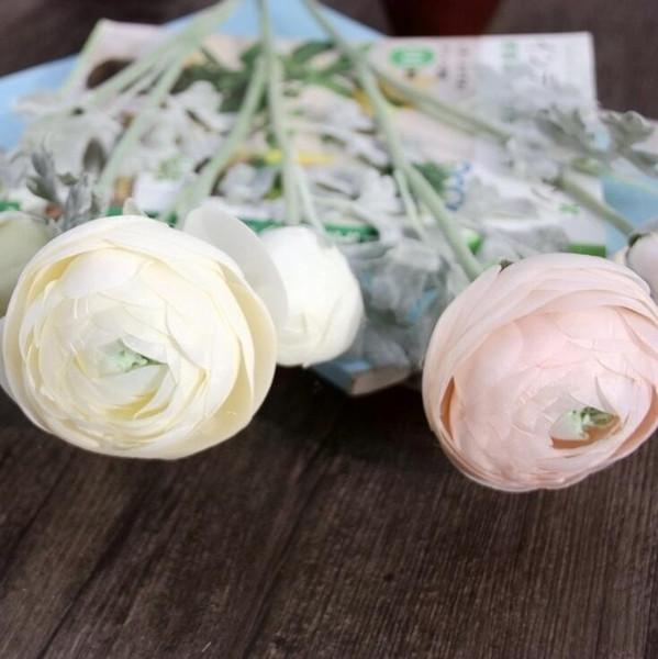 Tea rose Artificial flowers Tea Rose wreath party decoration real touch roses balls weddings Silk Camellia Tea Rose HR013