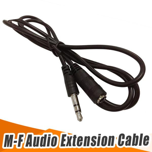 Черный 1.1 м стерео аудио кабель-удлинитель 3,5 мм между мужчинами и женщинами бесплатная доставка DHL FEDEX