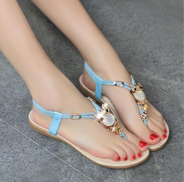 9ae5999c7412 Women sandals 2017 hot comfort Rhinestone sandals women Summer shoes  fashion high quality flat sandals women