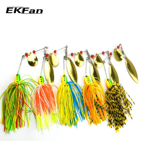 5pcs 16 .3g Spinnerbait Black Large Mouth Bass Fish Metal Bait Sequin Beard Pike Fishing Tackle Rubber Jig Soft Fishing Lure