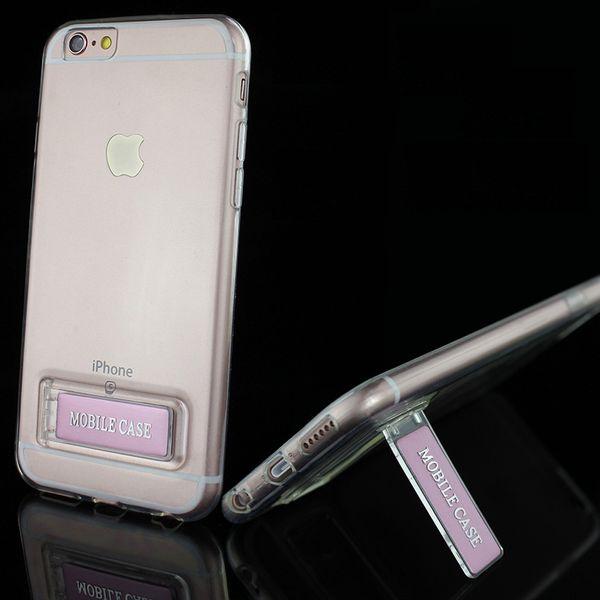 Cajas del teléfono celular para Iphone 6 6plus 6S 6Splus con soporte para TPU cubiertas de teléfonos móviles