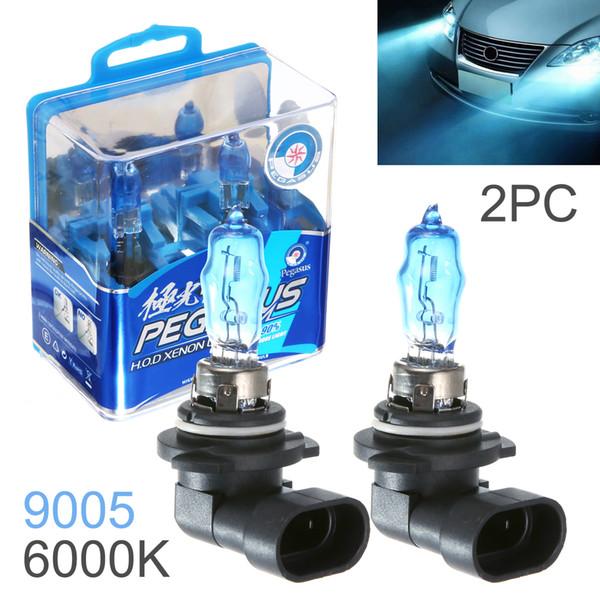 Wholesale 2pcs 9005 100W White Light Super Bright Car HOD Xenon Halogen Lamp Auto Front Headlight Fog Bulb CLT_60Y
