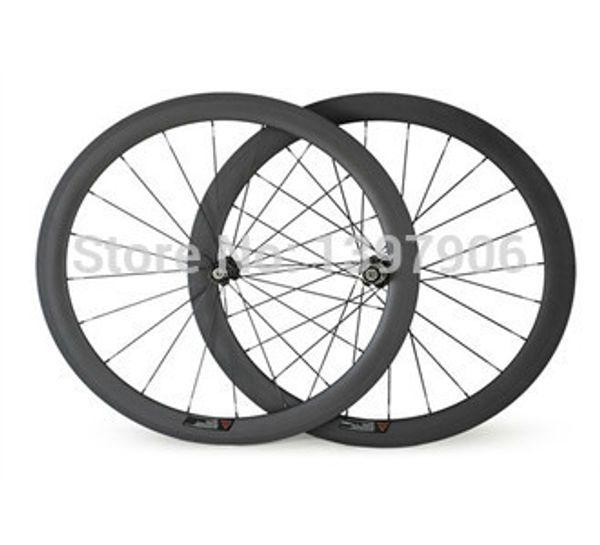 roues carbone roues vélo 700c 50mm OEM roues à pneus pour route roues vélo novatec moyeux roues 23mm larges roues vélo carbone
