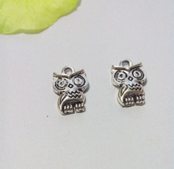 200pcs Tibetan Silver Tone Owl Charms Pendants Fashion Jewelry DIY Floating Charm Handmade 16x11mm jewelry beads and charms