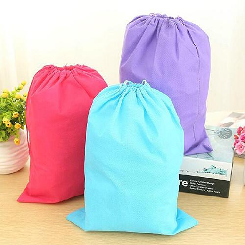 Wholesale- Laundry Shoe Travel Pouch Portable Tote Drawstring Storage Bag Organizer BICB