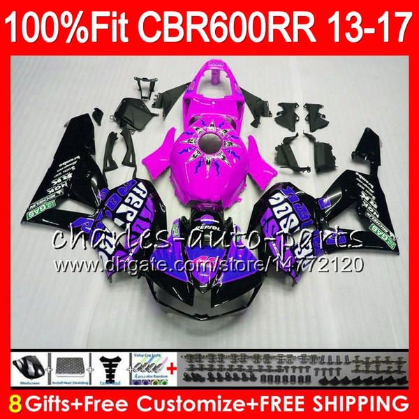 Injection Body For HONDA CBR 600 RR CBR600RR Repsol purple 13 14 15 16 17 89NO28 CBR 600RR F5 CBR600 RR 2013 2014 2015 2016 2017 Fairing kit