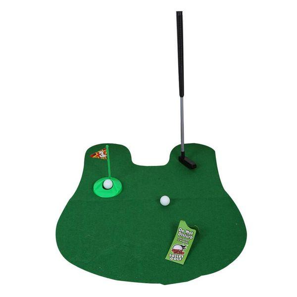 Töpfchen-Toiletten-Golfspiel-Minigolf-gesetztes Toiletten-Übungsgrün-lustiges Neuheits-Spiel-Golf-Zusatz-Euipment Freies Verschiffen