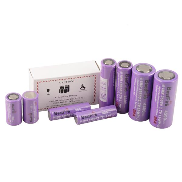 Bestfire 26650 18650 18350 batteria 14500 Best Fire batterie 3.7 V 900mah - 4500 mah Ricaricabile per scatola di sigarette elettroniche mod nave libera