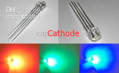 best selling Water clear 5mm Straw Hat RGB LED 5000 mcd Common Cathode rohs compliance long life