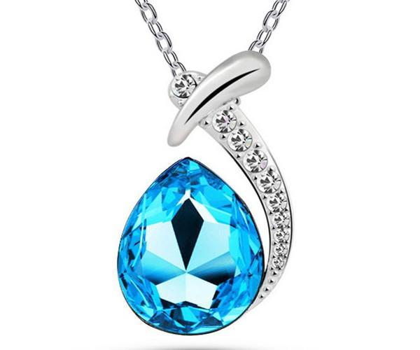 2016 Hot 925 Sterling Silver Necklace Dangle Crystal Pendants For Jewelry DIY The little mermaid necklace