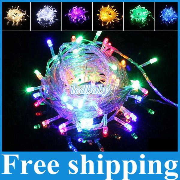 DHL Free shipping Christmas crazy selling 10M 100 LED string Decoration Light 110V 220V For Party Wedding led christmas twinkle lighting