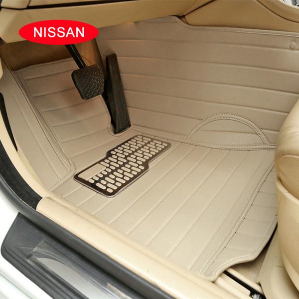 Case for Nissan X-Trail Qashqai Tiida Teana MURANO Livian Sylphys etc.. Customized car floor mats carpets Waterproof 3D leather mats