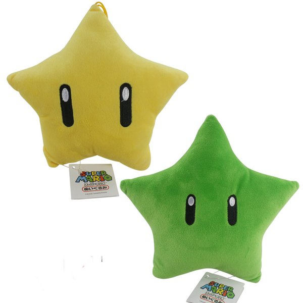 Super Mario yellow green star pendant plush toy doll Super Mario Game Doll Stuffed Animals & Plush Toys children's toys and gifts