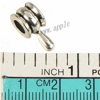 Jewelry Components Charms Beads Pandora Bracelets European DIY 5mm Large Hole Tool Hammer Antic Silver Metal 16*7mm For Crafts Making 100pcs