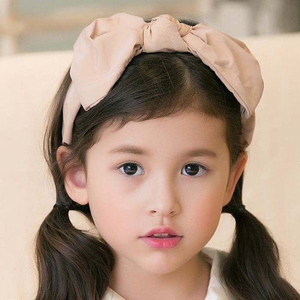 2015 New Arrival Girls Bownot Hair Hoop Fashion Children Solid Hair Sticks Korean Style Kids Accessories Fit 3-9 Age 100-140 SS904
