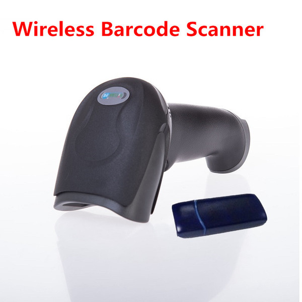Wholesale- Wireless Barcode Scanner Gun Express Single Dedicated Supermarket Retail Stores Bar Code Reader with Function of Storage Q2