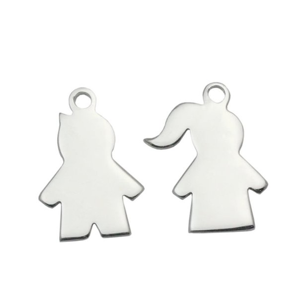Beadsnice 925 sterling silver boy and girl charms pendants handmade bracelet accessories gift item for lovers ID 33829 33830