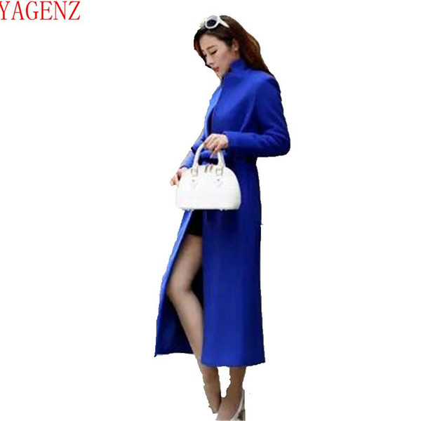 89474fc345bb Jovem mulher Casaco de Moda outono e inverno jaqueta de Lã casaco tamanho  Grande Temperamento casaco