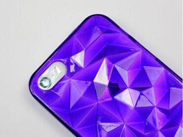 For iPhone 4 4s 3D Diamond Cube Tpu Rubber Case,Colorful Transparent Diamond Pattern 3D Cube Tpu Case For iPhone 4s 100pcs/lot