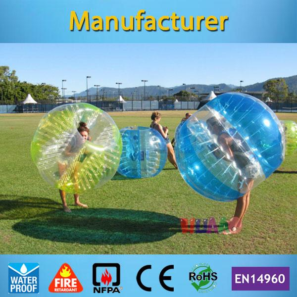 Wholesale- Free Shipping Dia 1.2m PVC Inflatable Bubble Soccer Football Ball,Zorb Ball, inflatable human hamster ball, Bumper Ball for Kids