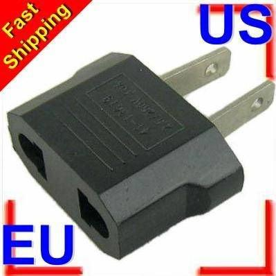 top popular Free shipping Universal EU To US Plug Euro To USA Travel Wall AC Power Charger Adapter Converter 2020