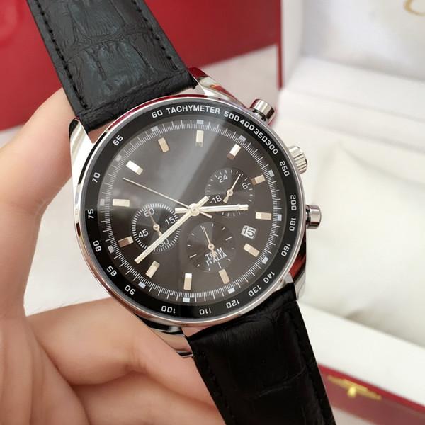 2017 brand quartz military watch luxury men dre watche leather wri twatche fa hion ca ual watche black brown band teel with box