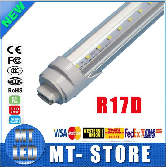 R17D t8 led tube light 4ft 22w 5ft/ 8ft 45W 2.4m Fluorescent Lamp Rotating smd2835 192leds 4800lm 85-265V Frosted/Clear Cover tubes