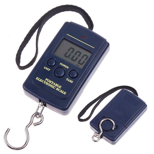 top popular 40kg Digital Luggage Handy Scales 88Lb 1410oz LCD Display hanging fishing weight scale 2020