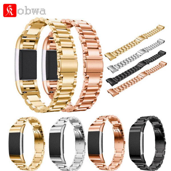 Stainless Steel Watch Band For Fitbit Charge 2 Wrist Strap Band Bracelet Link Watchband Interlock Wristband For Fitbit