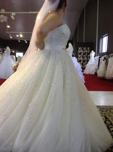 Custom Made 2016 Plus Size Wedding Dresses Full Lace Cheap Sexy Sweetheart Sleeveless Ball Gown Court Train Lace Applique Weddings Dress