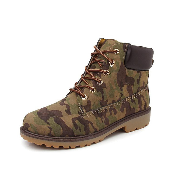 Men Winter Boots Big Size 36-46 Brand Hot Newest Keep Warm Pu Leather Wear Resisting Casual Shoes Working Fashion Men Boots Women ArmyGreen