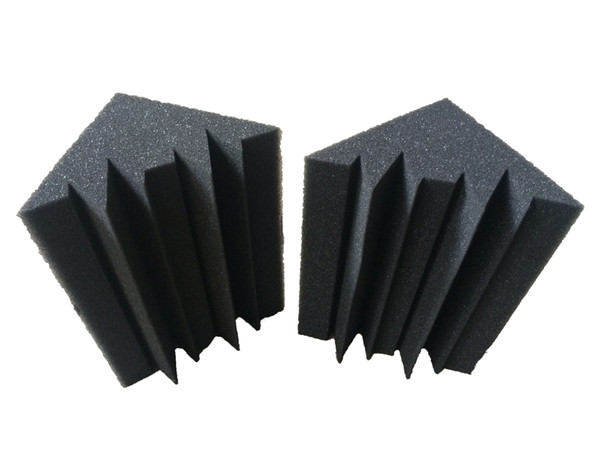 best selling 12 PCS Black Studio Soundproof Foam Charcoal Bass trap Acoustic Sponge