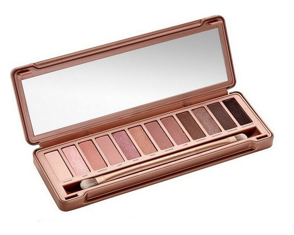 2015 HOT Makeup Eye Shadow 12 colores NUDE 2nd 3º Paleta de sombra de ojos 15.6g NUDE 1.2.3.5