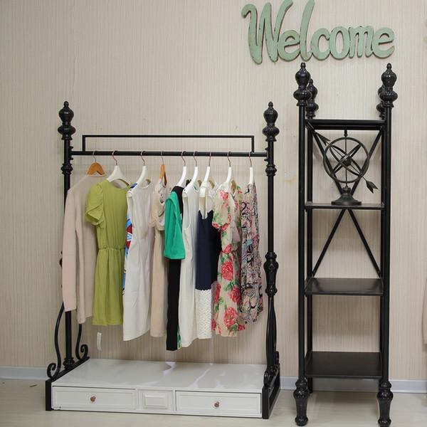 be1d4c1919ccc Yüksek dereceli demir giyim raf raf giyim vitrin giyim mağazası raf kat- kadınlar