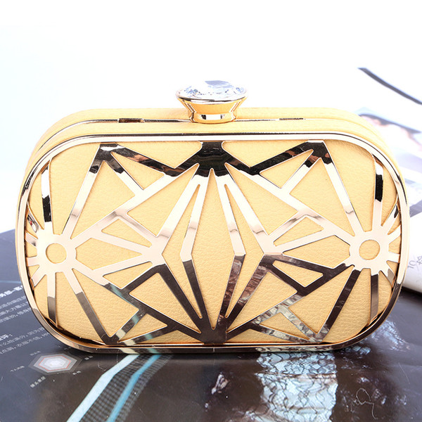 Factory-direct wholesale handmade unique evening bag/clutch with satin/PU for wedding/banquet/party/porm(more colors)