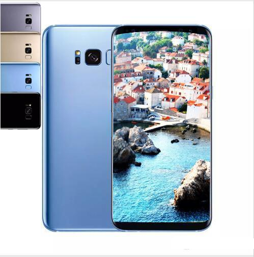 top popular Goophone S8 s8 plus 6.2 inch unlocked phone 1G 4G Quad Core Mtk6580 fake 4G LTE show 128G 64GB 3G WCDM Smartphone 2019