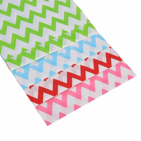 25Pcs Wedding Decoration Favor Candy Box Stripe Wedding Paper Bag Gifts For Wedding Birthday Party Supplies Snack Food Packaging