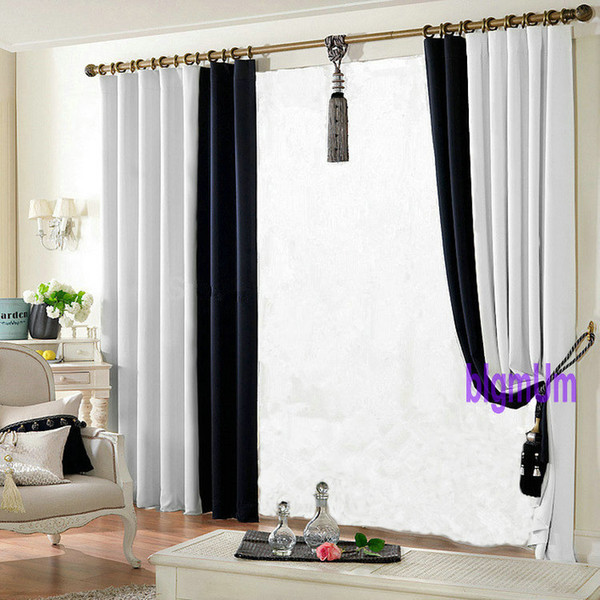2016 Promotion Solid Color/Plain Window Curtains For Living Room+ ...