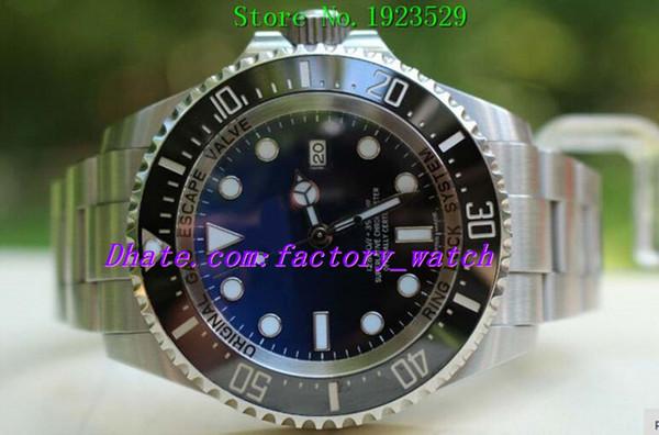 Оригинальная Коробка Роскошные Часы Наручные Часы Сертификат 116660 Синий Керамические Автоматические Часы Браслет Из Нержавеющей Стали Мужчины Спортивные Часы