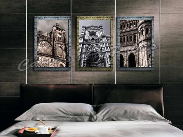 Modern Framed Home Decor Canvas Prints Painting City Canvas Wall Picture 3 Piece Canvas Wall Art Paintings for Living Room
