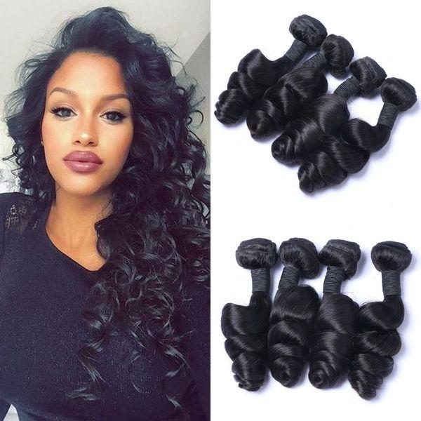 Mongolian Virgin Human Hair Weave Bundles 4pcs Brazilian Peruvian Malaysian Indian Cambodian Loose Wave Hair Extensions LaurieJ Hair