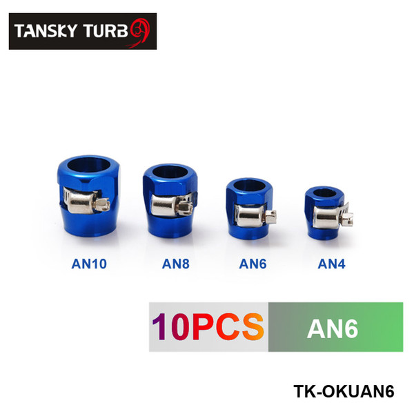 best selling TANSKY - NEW Fuel Systems Fittings AN6 Fuel Oil Water Tube Hose Fittings Finisher Clamps 16mm (have in stock)TK-OKUAN6