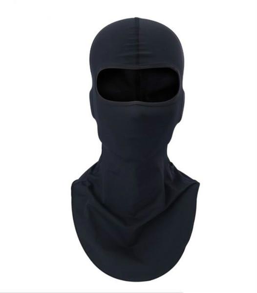 top popular black Motorcycle Balaclava Sports Biker Motorbike Neck Warmer Sun-protection Headwear Full Face Mask Headgear Free Shipping 2021