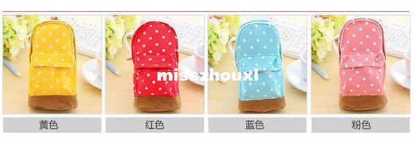 Stationery Multifunctional big capacity pencil case Dot school bag pattern Cute storage box