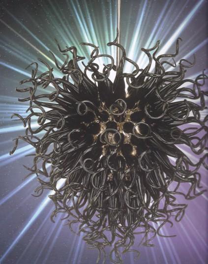100% Mouth Blown CE UL Borosilicate Murano Glass Dale Chihuly Art Classic Heart Shaped Lighting Pendants Glass