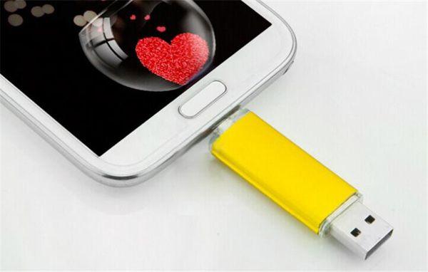5pcs ePacket/post 100% Real Capacity 2GB 4GB 8GB 16GB 32GB 64GB 128GB 256GB OTG USB Flash Drive Memory Stick with OPP Packaging