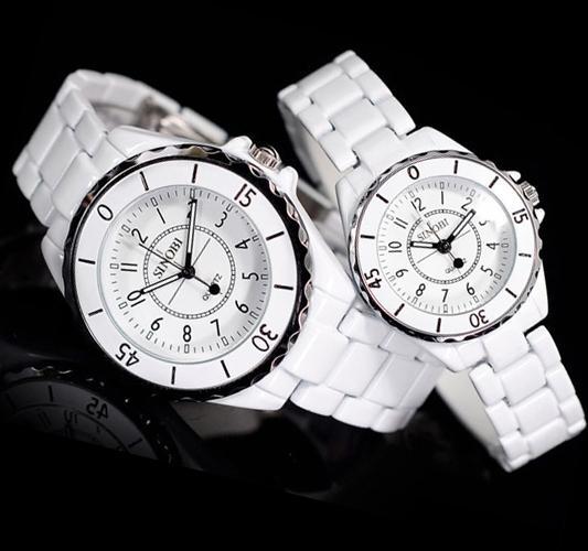 Yeni Moda Erkek Bayanlar Zarif Saatler Bilek İzle Kuvars Sinobi Izle Beyaz
